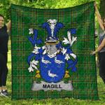 1sttheworld Premium Quilt - Magill Irish Family Crest Quilt - Irish National Tartan A7