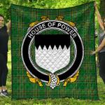 1sttheworld Premium Quilt - House Of Power Irish Family Crest Quilt - Irish National Tartan A7