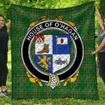 1sttheworld Premium Quilt - House Of O'Hagan Irish Family Crest Quilt - Irish National Tartan A7