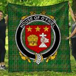 1sttheworld Premium Quilt - House Of O'Friel Irish Family Crest Quilt - Irish National Tartan A7