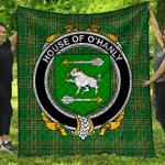 1sttheworld Premium Quilt - House Of O'Hanly Irish Family Crest Quilt - Irish National Tartan A7