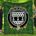 1sttheworld Premium Quilt - House Of O'Higgin Irish Family Crest Quilt - Irish National Tartan A7