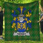 1sttheworld Premium Quilt - Tierney Irish Family Crest Quilt - Irish National Tartan A7