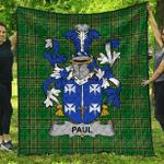 1sttheworld Premium Quilt - Paul Irish Family Crest Quilt - Irish National Tartan A7