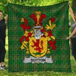 1sttheworld Premium Quilt - Sutton Irish Family Crest Quilt - Irish National Tartan A7