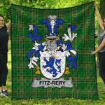 1sttheworld Premium Quilt - Fitz-Rery Irish Family Crest Quilt - Irish National Tartan A7