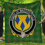 1sttheworld Premium Quilt - House Of Maccostello Irish Family Crest Quilt - Irish National Tartan A7