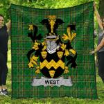1sttheworld Premium Quilt - West Irish Family Crest Quilt - Irish National Tartan A7
