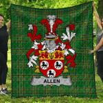 1sttheworld Premium Quilt - Allen Irish Family Crest Quilt - Irish National Tartan A7