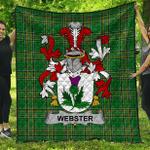 1sttheworld Premium Quilt - Webster Irish Family Crest Quilt - Irish National Tartan A7