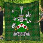 1sttheworld Premium Quilt - Kearns Or O'Kearon Irish Family Crest Quilt - Irish National Tartan A7