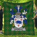 1sttheworld Premium Quilt - Crowley Irish Family Crest Quilt - Irish National Tartan A7