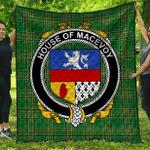 1sttheworld Premium Quilt - House Of Macevoy Irish Family Crest Quilt - Irish National Tartan A7