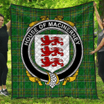 1sttheworld Premium Quilt - House Of Macinerney Irish Family Crest Quilt - Irish National Tartan A7