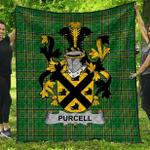 1sttheworld Premium Quilt - Purcell Irish Family Crest Quilt - Irish National Tartan A7