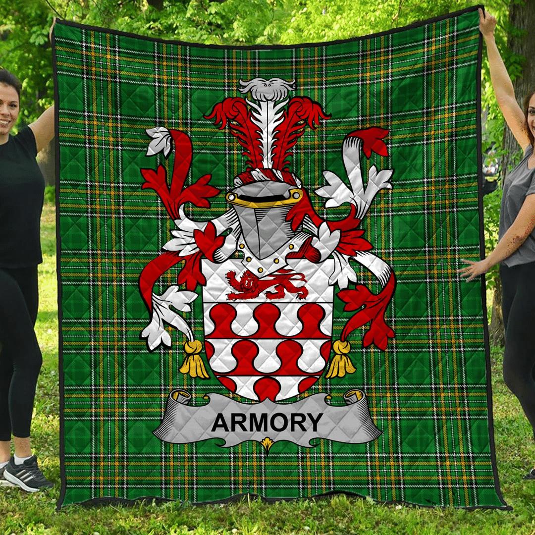 1sttheworld Premium Quilt - Armory Irish Family Crest Quilt - Irish National Tartan A7