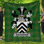 1sttheworld Premium Quilt - Archdekin Irish Family Crest Quilt - Irish National Tartan A7