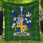 1sttheworld Premium Quilt - Osborne Irish Family Crest Quilt - Irish National Tartan A7