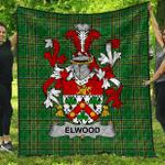 1sttheworld Premium Quilt - Elwood Irish Family Crest Quilt - Irish National Tartan A7