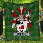 1sttheworld Premium Quilt - Tennent Irish Family Crest Quilt - Irish National Tartan A7