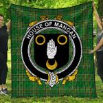 1sttheworld Premium Quilt - House Of Mangan Irish Family Crest Quilt - Irish National Tartan A7
