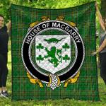 1sttheworld Premium Quilt - House Of Macgarry Irish Family Crest Quilt - Irish National Tartan A7
