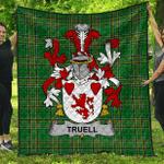 1sttheworld Premium Quilt - Truell Irish Family Crest Quilt - Irish National Tartan A7