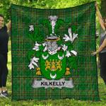 1sttheworld Premium Quilt - Kilkelly Or Killikelly Irish Family Crest Quilt - Irish National Tartan A7
