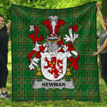 1sttheworld Premium Quilt - Newman Irish Family Crest Quilt - Irish National Tartan A7