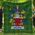 1sttheworld Premium Quilt - Walron Irish Family Crest Quilt - Irish National Tartan A7