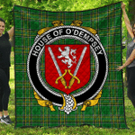 1sttheworld Premium Quilt - House Of O'Dempsey Irish Family Crest Quilt - Irish National Tartan A7