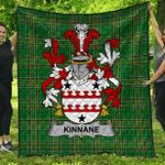 1sttheworld Premium Quilt - Kinnane Or O'Kinane Irish Family Crest Quilt - Irish National Tartan A7
