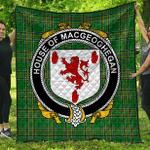 1sttheworld Premium Quilt - House Of Macgeoghegan Irish Family Crest Quilt - Irish National Tartan A7