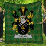 1sttheworld Premium Quilt - Tisdall Or Tisdale Irish Family Crest Quilt - Irish National Tartan A7