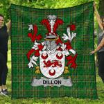1sttheworld Premium Quilt - Dillon Irish Family Crest Quilt - Irish National Tartan A7