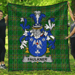 1sttheworld Premium Quilt - Faulkner Irish Family Crest Quilt - Irish National Tartan A7