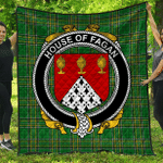 1sttheworld Premium Quilt - House Of Fagan Irish Family Crest Quilt - Irish National Tartan A7