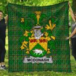 1sttheworld Premium Quilt - Mcdonagh Or Mcdonogh Irish Family Crest Quilt - Irish National Tartan A7