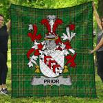 1sttheworld Premium Quilt - Prior Irish Family Crest Quilt - Irish National Tartan A7
