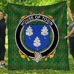 1sttheworld Premium Quilt - House Of Tobin Irish Family Crest Quilt - Irish National Tartan A7
