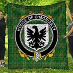 1sttheworld Premium Quilt - House Of O'Moriarty Irish Family Crest Quilt - Irish National Tartan A7