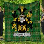 1sttheworld Premium Quilt - Carroll Or O'Carroll Irish Family Crest Quilt - Irish National Tartan A7