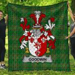 1sttheworld Premium Quilt - Goodwin Irish Family Crest Quilt - Irish National Tartan A7