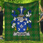 1sttheworld Premium Quilt - Aylward Irish Family Crest Quilt - Irish National Tartan A7