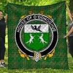1sttheworld Premium Quilt - House Of O'Donoghue Irish Family Crest Quilt - Irish National Tartan A7