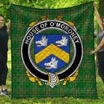 1sttheworld Premium Quilt - House Of O'Moroney Irish Family Crest Quilt - Irish National Tartan A7
