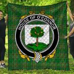 1sttheworld Premium Quilt - House Of O'Connor (Faly) Irish Family Crest Quilt - Irish National Tartan A7