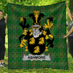 1sttheworld Premium Quilt - Ashmore Irish Family Crest Quilt - Irish National Tartan A7