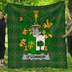 1sttheworld Premium Quilt - Connor Or O'Connor (Sligo) Irish Family Crest Quilt - Irish National Tartan A7