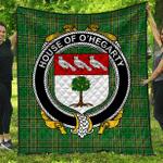 1sttheworld Premium Quilt - House Of O'Hegarty Irish Family Crest Quilt - Irish National Tartan A7